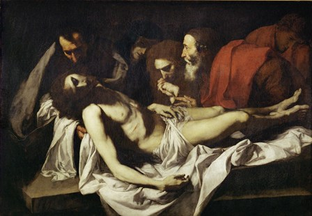 Deposition by Jusepe De Ribera art print