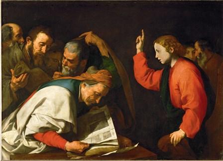 Twelve Year Old Jesus and the Doctors, c.1630 by Jusepe De Ribera art print