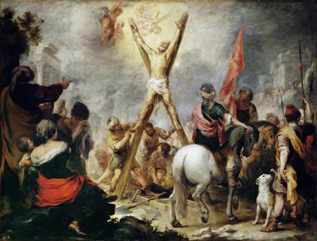 Martyrdom of Saint Andrew by Bartolome Esteban Murillo art print