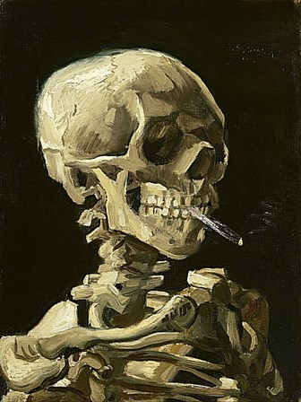 Skull with Burning Cigarette by Vincent Van Gogh art print