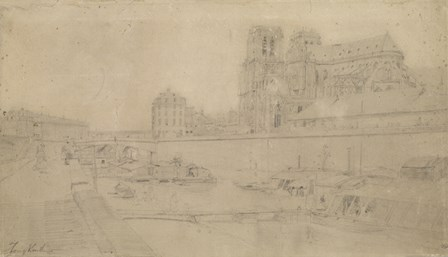 Notre-Dame View Of The Docks In The South, 19th Century by Johan Barthold Jongkind art print