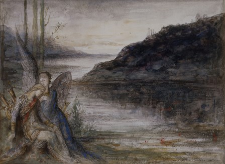 The Evening And The Sorrow by Gustave Moreau art print