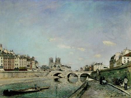 Paris, 1864 by Johan Barthold Jongkind art print