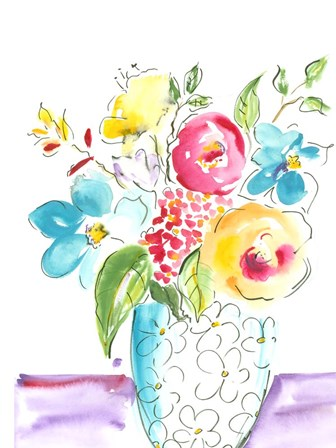 Flower Burst Vase I by Julia Minasian art print
