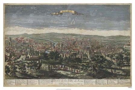 Bird's Eye View of Rome by Williamsburg art print