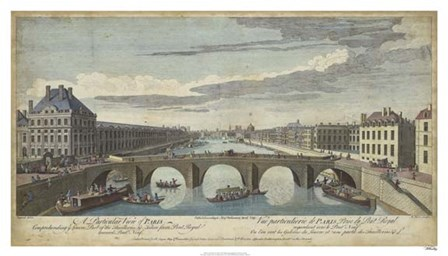 Le Pont Royal, Paris by Williamsburg art print