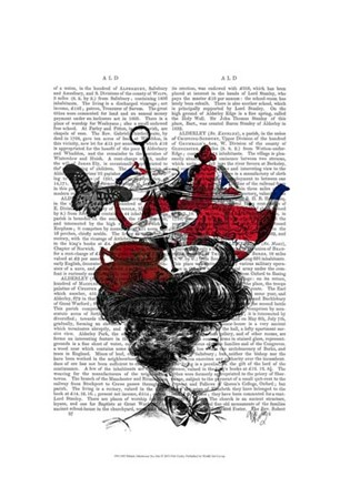 British Afternoon Tea Hat by Fab Funky art print