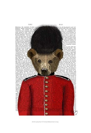 Guardsman Bear by Fab Funky art print