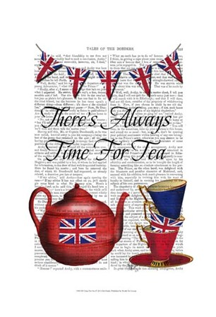 Time For Tea by Fab Funky art print