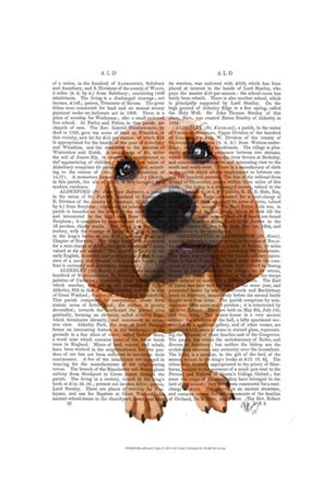 Bloodhound Puppy by Fab Funky art print