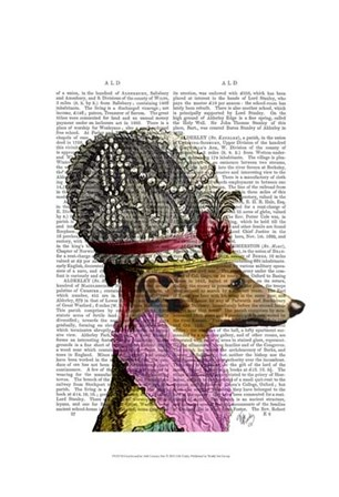 Greyhound in 16th Century Hat by Fab Funky art print