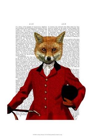 Fox Hunter 2 Portrait by Fab Funky art print