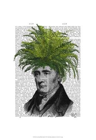 Fern Head Plant Head by Fab Funky art print