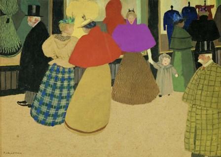 Les Passants Street Scene, 1895 by Felix Vallotton art print