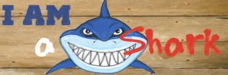 I Am A Shark by Taylor Greene art print