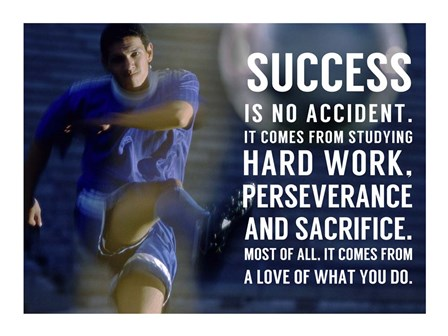 Success is No Accident by Sports Mania art print