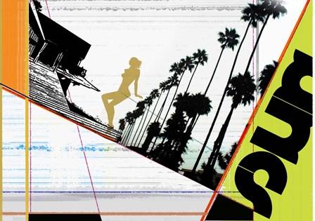 LA by Naxart art print
