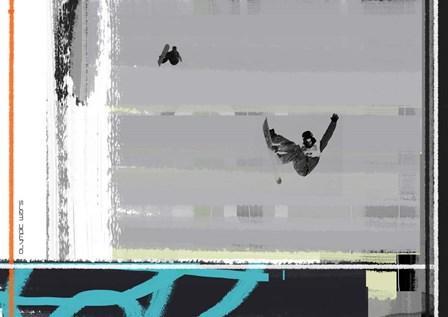 Snow Boarding by Naxart art print