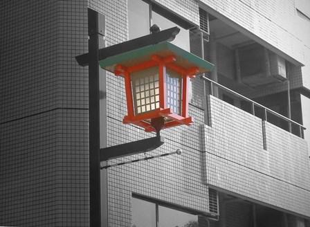 Tokyo Street Light by Naxart art print