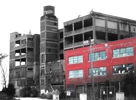 Old Building In Detroit 1 by Naxart art print