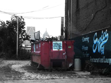 Old Detroit by Naxart art print