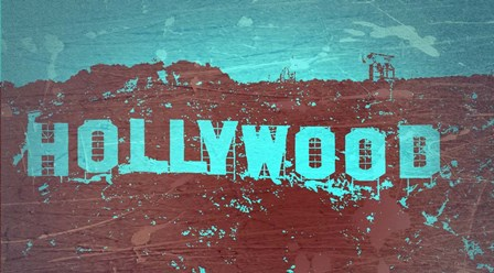 Hollywood Sign by Naxart art print
