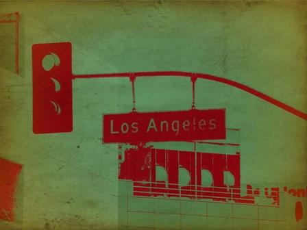 LA Street Light by Naxart art print
