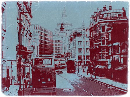 London Fleet Street by Naxart art print