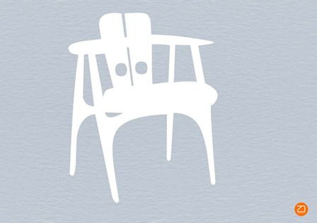 White Wooden Chair by Naxart art print