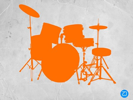 Orange Drum Set by Naxart art print