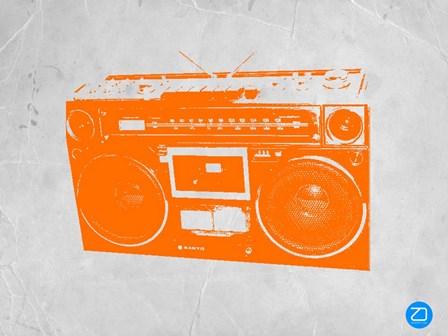 Orange Boom Box by Naxart art print