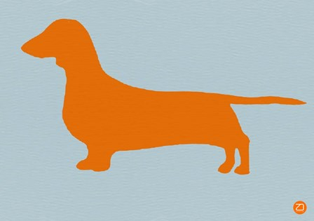 Dachshund Orange by Naxart art print