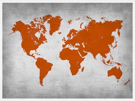 World Map 14 by Naxart art print