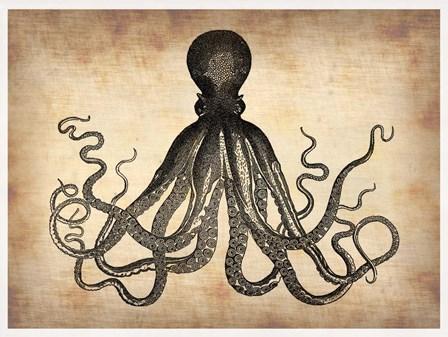 Vintage Octopus by Irina March Naxart Studio art print