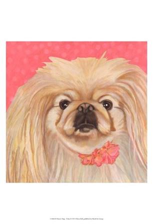 Dlynn's Dogs - Pinky by Dlynn Roll art print