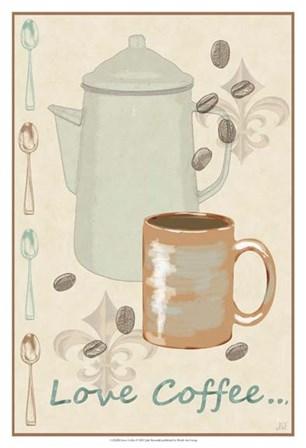 Love Coffee by Jade Reynolds art print