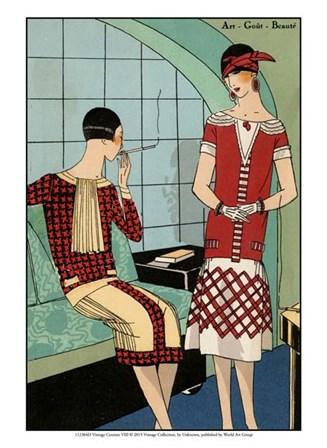 Vintage Couture VIII art print