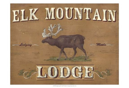 Lodge Sign III by June Erica Vess art print