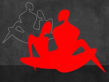 Red Couple 3 by Felix Podgurski art print