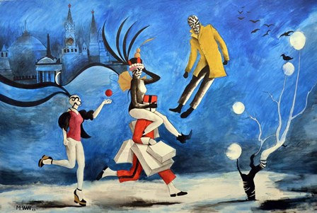Moscow Night by Vaan Manoukian art print