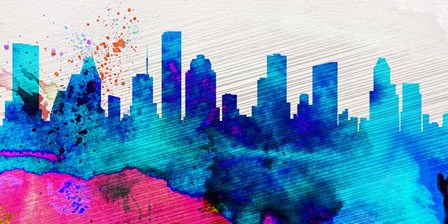 Houston City Skyline by Naxart art print