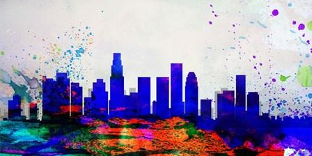 Los Angeles City Skyline by Naxart art print