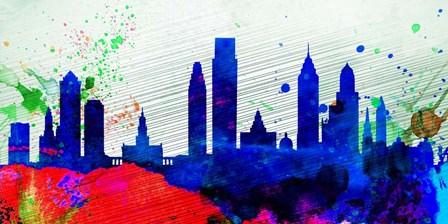 Philadelphia City Skyline by Naxart art print