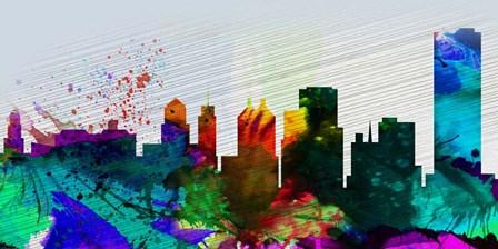 Buffalo City Skyline by Naxart art print