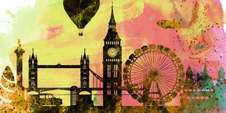 London City Skyline by Naxart art print