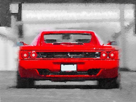 Ferrari F512 Rear by Naxart art print
