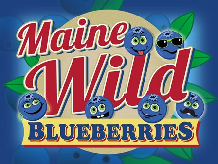 Maine Wild Blueberries by RetroPlanet art print