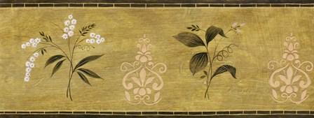 White Flower on Gold Panel by Pablo Esteban art print