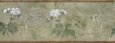Pair of White Flowers Panel by Pablo Esteban art print