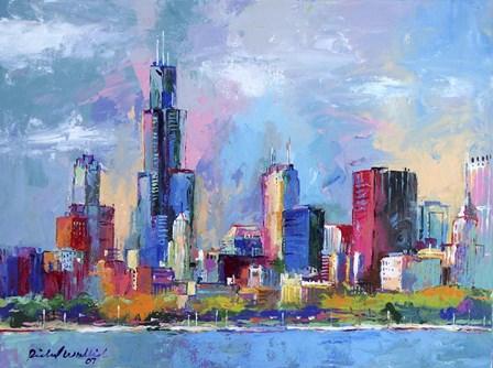 Chicago 5 by Richard Wallich art print
